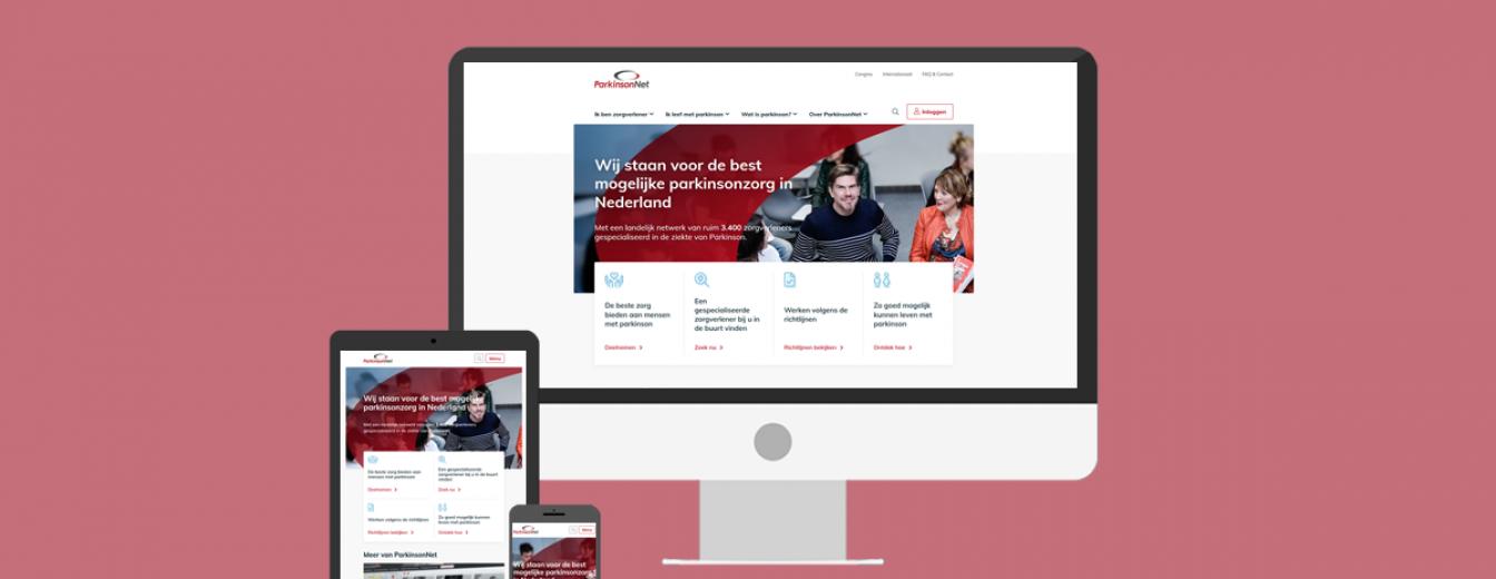 Afbeelding voor ParkinsonNet heeft een nieuwe website!